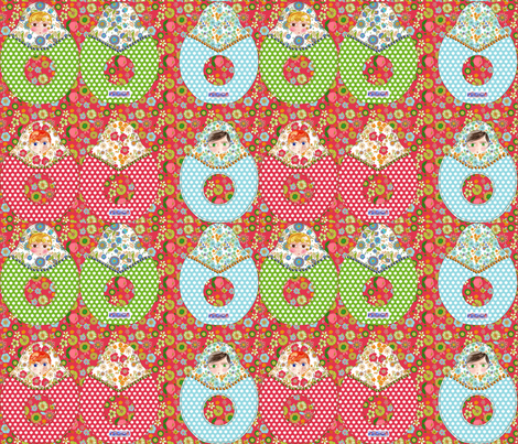 hochet poupée russe fabric by nadja_petremand on Spoonflower - custom fabric