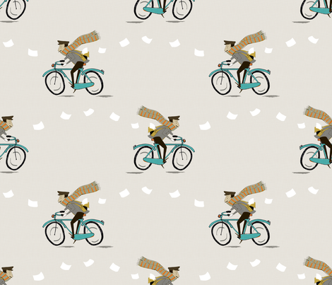 love letter fabric by mummysam on Spoonflower - custom fabric