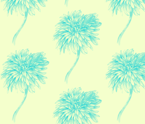 Chrysanthemum fabric by sewslow on Spoonflower - custom fabric