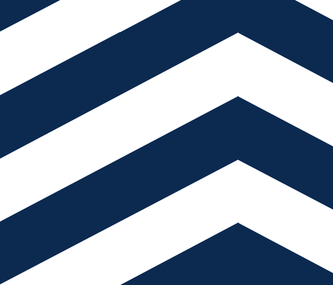 Navy Chevron fabric by mgterry on Spoonflower - custom fabric