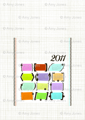 Parenthesis & Brackets / 2011 Tea Towel Calendar