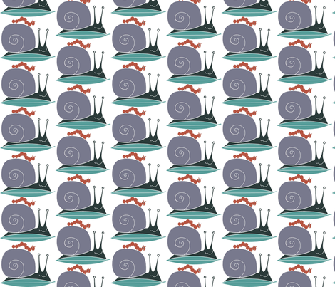 snail_buddy fabric by antoniamanda on Spoonflower - custom fabric