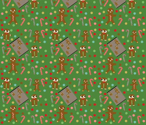 gingerbread fabric by heidikenney on Spoonflower - custom fabric