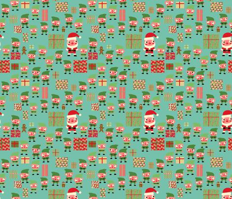 Santa's Workshop fabric by heidikenney on Spoonflower - custom fabric