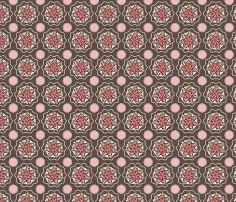 Chain Flower_ST fabric by deesignor on Spoonflower - custom fabric