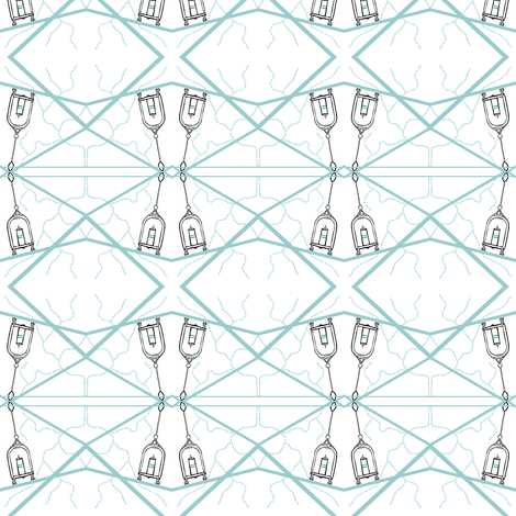 lanterns in the wind fabric by luluhoo on Spoonflower - custom fabric