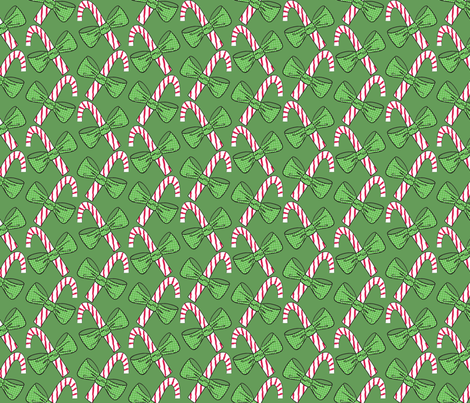 Christmas canes fabric by majobv on Spoonflower - custom fabric