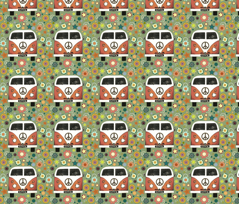 peace camper small fabric by scrummy on Spoonflower - custom fabric