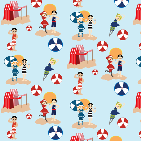 Beachy Keen fabric by kiwicuties on Spoonflower - custom fabric