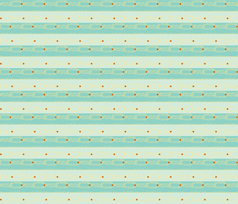 blue stripes and orange pokes fabric by luluhoo on Spoonflower - custom fabric