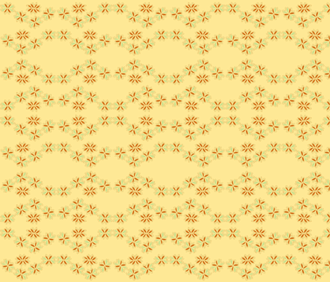 flowery chain on creamy yellow fabric by luluhoo on Spoonflower - custom fabric