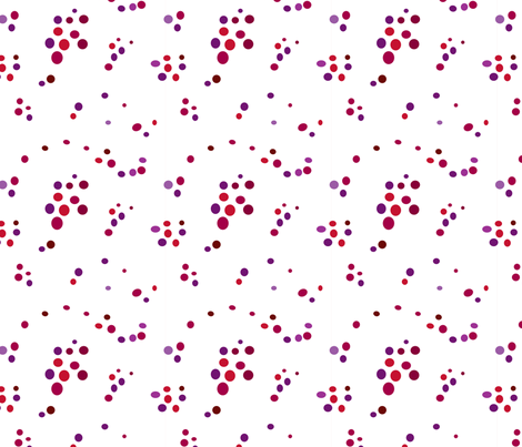 Random Dots Berry fabric by carinaenvoldsenharris on Spoonflower - custom fabric