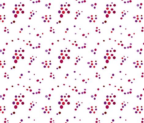 Random Dots Berry fabric by carinaenvoldsenharris on Spoonflower - custom fabric