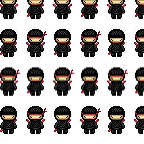 ninjas fabric by iamnotadoll on Spoonflower - custom fabric