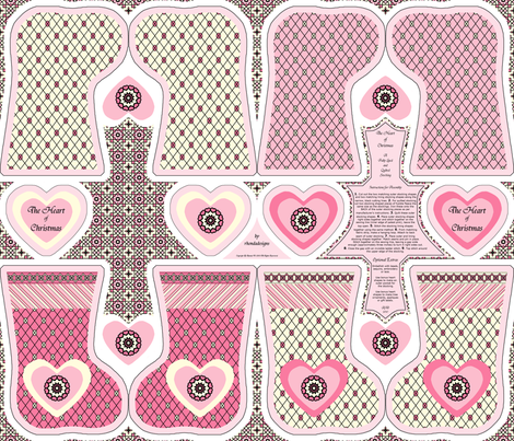 The Heart of Christmas - Stocking Kit by Rhonda W. © 2010 fabric by rhondadesigns on Spoonflower - custom fabric