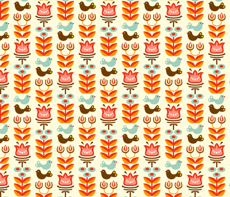 Helga white fabric by hamburgerliebe on Spoonflower - custom fabric