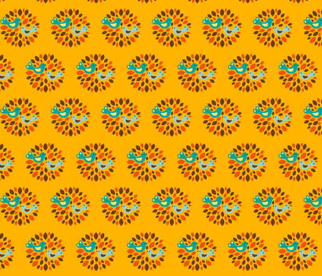 Frieda yellow fabric by hamburgerliebe on Spoonflower - custom fabric