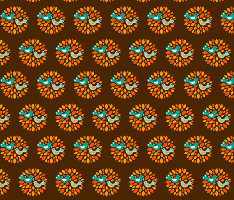 Frieda brown fabric by hamburgerliebe on Spoonflower - custom fabric