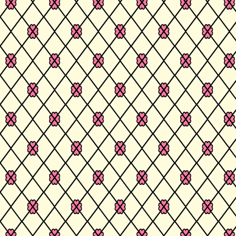 Net-Stocking Hearts - cream  fabric by rhondadesigns on Spoonflower - custom fabric