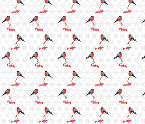 Bullfinches fabric by newmom on Spoonflower - custom fabric