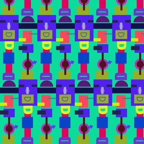 Happy Jadeite Robot Clocks