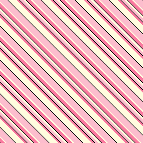 Heart's Companion - Blush Pink  Diagonal Stripes