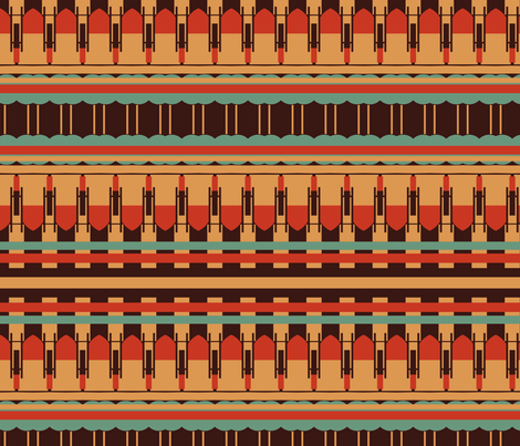 Art Deco Southwest Stripes fabric by boris_thumbkin on Spoonflower - custom fabric