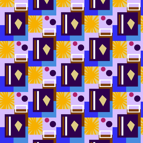 Hotel Sandrine Sunburst fabric by boris_thumbkin on Spoonflower - custom fabric