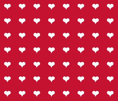Red Heart fabric by suryasajnani on Spoonflower - custom fabric
