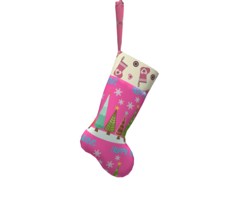 My Heart is on my Stocking - Pink
