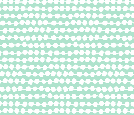 Dots in Rows - Pale Turquoise/White by Andrea Lauren fabric by andrea_lauren on Spoonflower - custom fabric