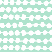 Dots in Rows - Pale Turquoise/White by Andrea Lauren