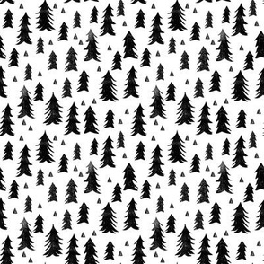 trees // forest trees black and white