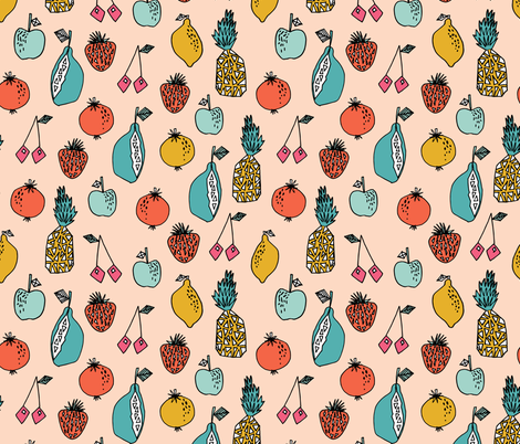 Tutti Frutti - Blush by Andrea Lauren fabric by andrea_lauren on Spoonflower - custom fabric