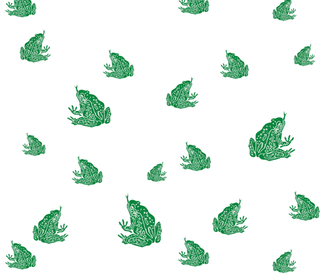 More Flippin' Frogs fabric by bad_penny on Spoonflower - custom fabric