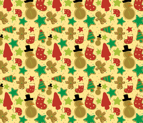 Christmas Gingermints fabric by sbd on Spoonflower - custom fabric