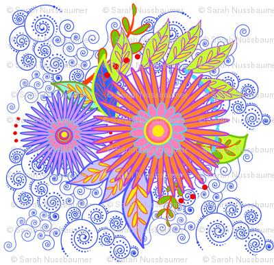 Floral Pillow-a
