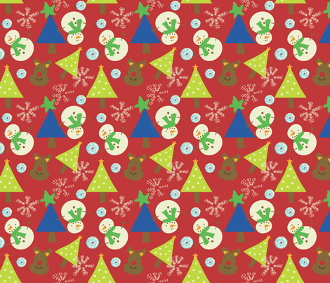 Frosty and Me fabric by sbd on Spoonflower - custom fabric