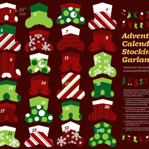 Advent Calendar Mini Stocking Garland