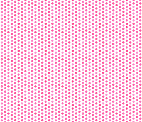 Small Watercolor Dots: Hot Pink fabric by nadiahassan on Spoonflower - custom fabric