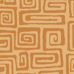 square spiral - cinnamon
