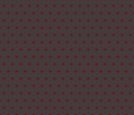 Star Grid Red and Grey fabric by fluffygeek on Spoonflower - custom fabric