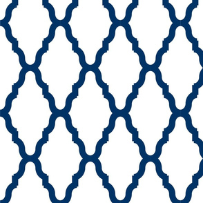 Sea Blue Lattice 2