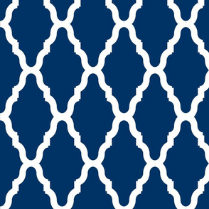 Sea Blue Lattice 1