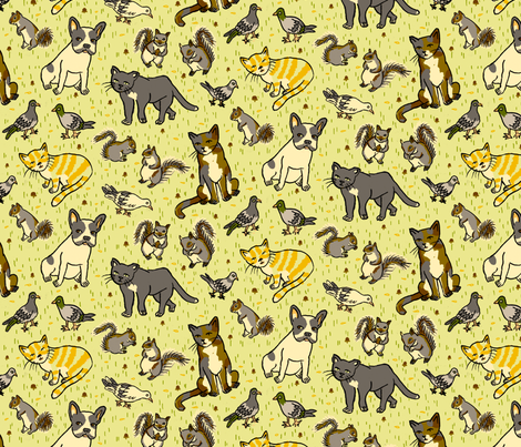 Urban Animals fabric by 1stpancake on Spoonflower - custom fabric