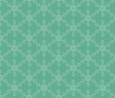 Snowflake fabric by tammikins on Spoonflower - custom fabric