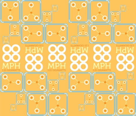 Flux Capacitance fabric by mayene on Spoonflower - custom fabric