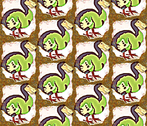 Happy Birthday, Mr. Dodo! fabric by robin_rice on Spoonflower - custom fabric