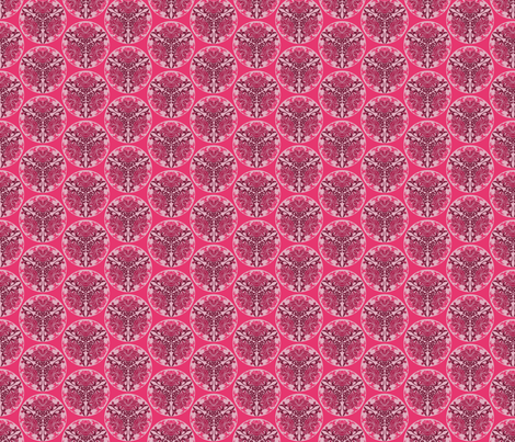 Chinese floral in pink fabric by delsie on Spoonflower - custom fabric