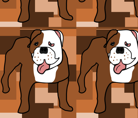 Freddy the Crazy Bulldog fabric by missyq on Spoonflower - custom fabric